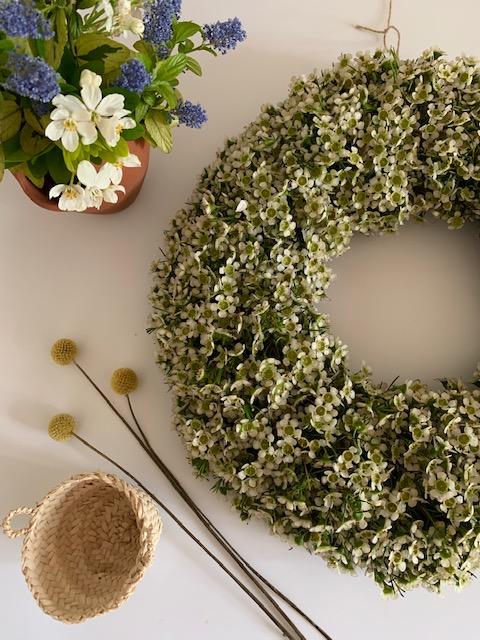 Wax Flower wreath – White