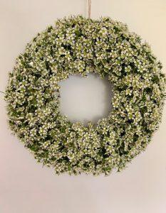 Wax flower wreath