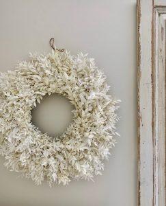 Bleached Ruscus Wreath