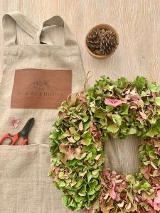 Hydrangea Wreath 2020 flatlay